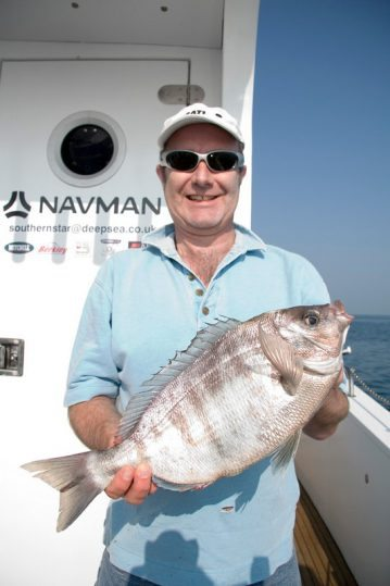 angler with good black bream