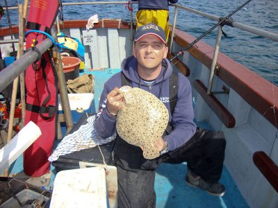 Scott Gibson with a small turbot