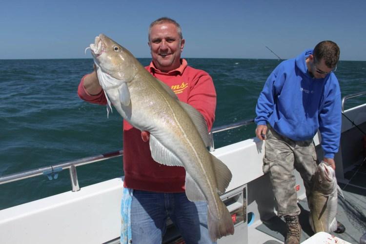 Weymouth cod fishing on Supanova Steve with fish