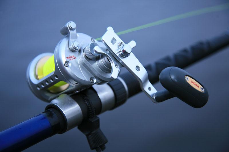 Daiwa Saltist STT30H reel on the rod