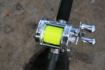 Fisheagle CL50 multiplier reel on rod