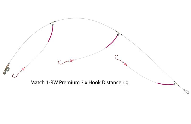 UK Hooks Shore Rigs three hook distance