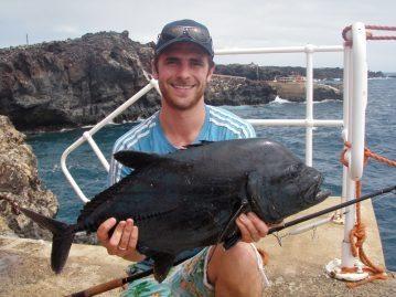 Ascension Island Shore Fishing black jack