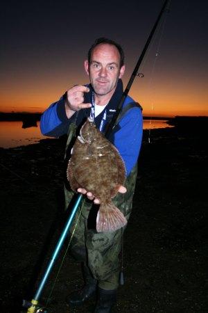 a Wexford flounder landed at dusk