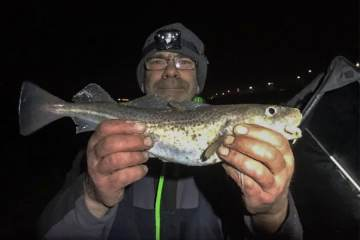 Alan Humm with a codling