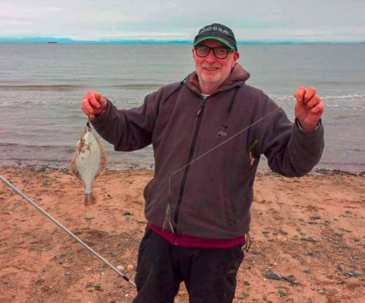 Barry Critchly with his winning flounder