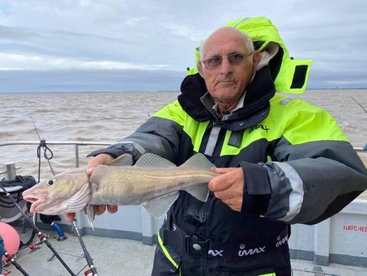 Phil Bingham landed one of those elusive codling