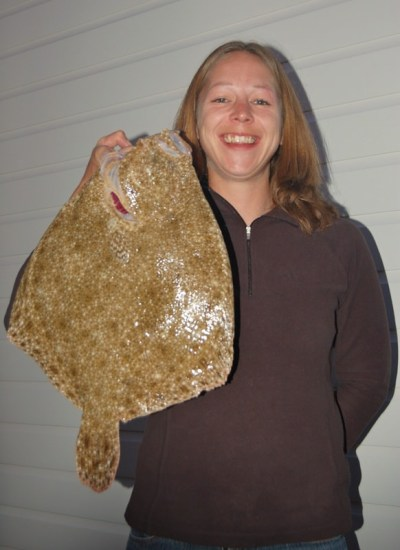 Jenny with her turbot