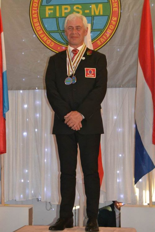 Gary with gold medal