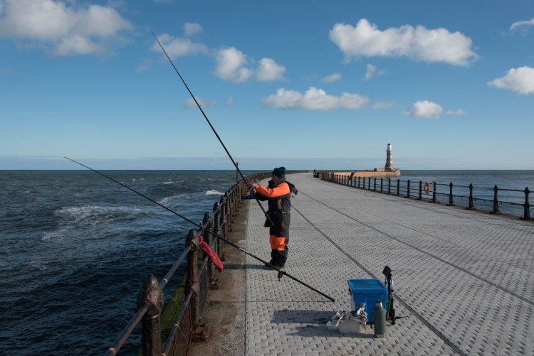 Fishing on Roker pier