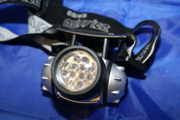 a LED headlamp