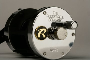 Rocket Reel Co TG-F1 reel side view
