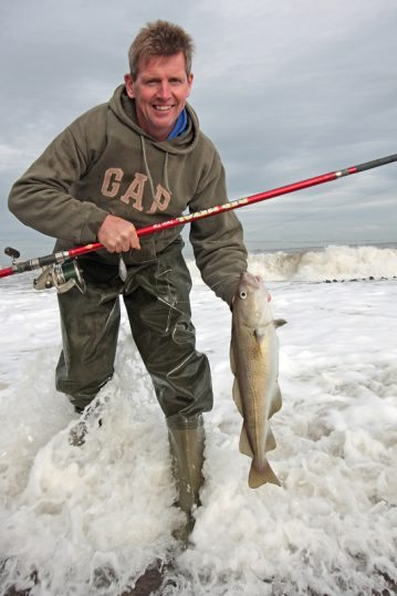 a cod from the Yorkshire surf