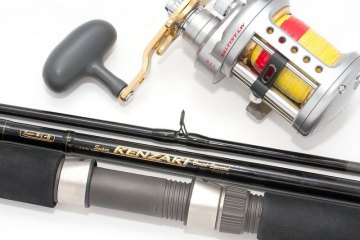 Daiwa Kenzaki 12-30lb 3-piece boat rod decal etc