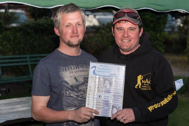 Norfolk Sea Angling Festival winner Andy Bunn