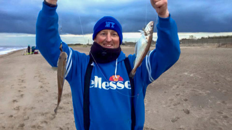 Adie with a double