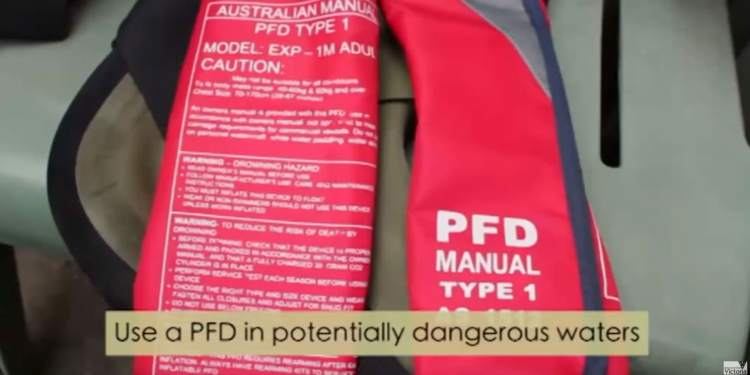 stay safe with a pfd