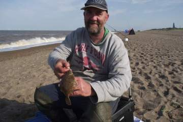 Species hunt winner Paul Marshall with one if his flounders