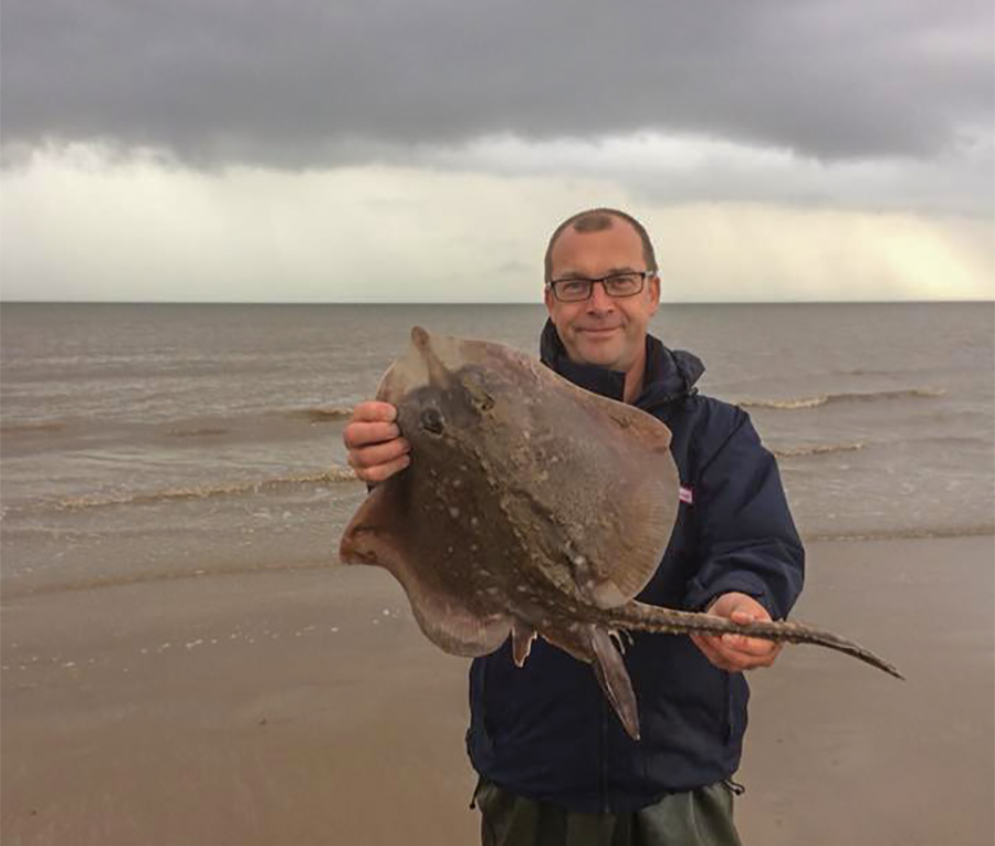 Dave Brown with one of his thornbacks