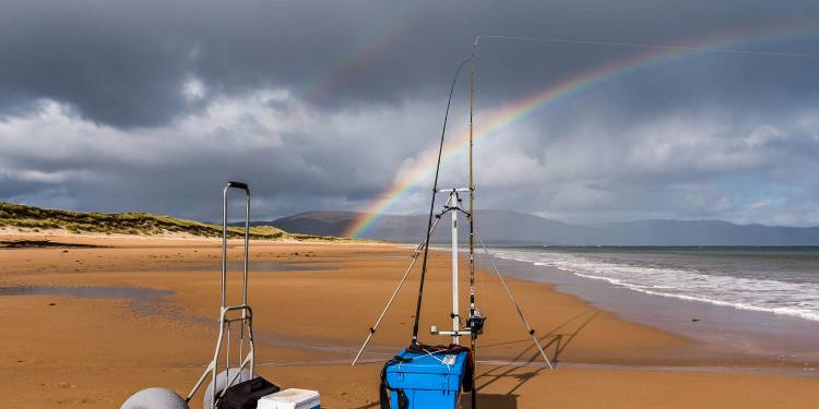 Rainbow over Embo beach