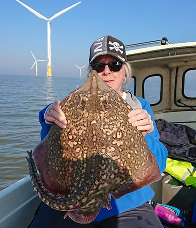 Sandie Davis and landed this thornback ray