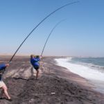 Fieona and Mark both strain against Namibia fish