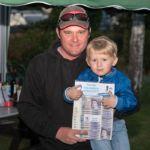 Winner Andy Bunn with son