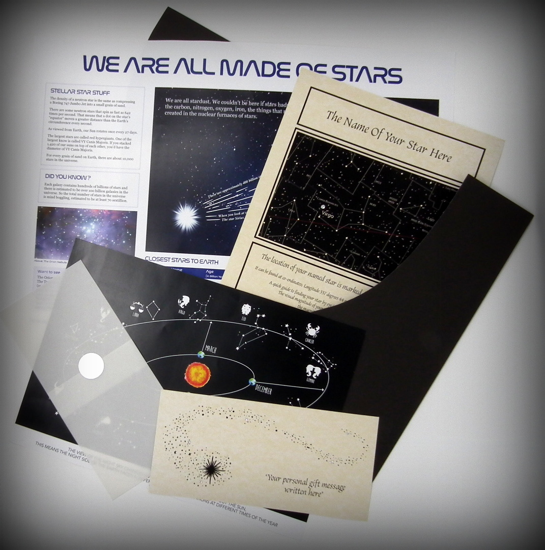 Deluxe Name a Star Gift Set with SWAROVSKI® ELEMENT in a Luxury ...