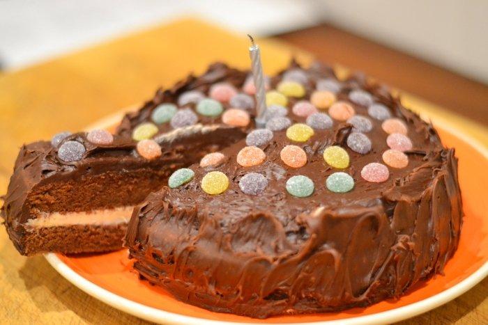 Recipe Jelly Tots Chocolate Cake Planet Veggie