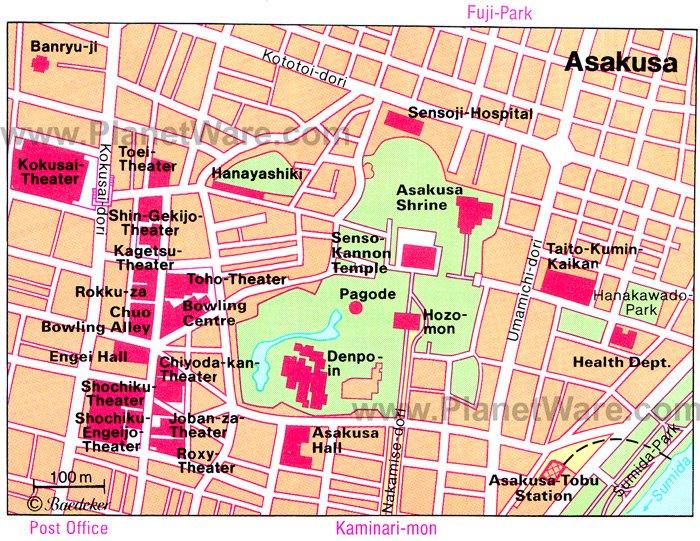 Asakusa - Floor plan map