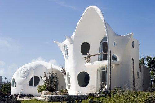 A unique building on Isla Mujeres.