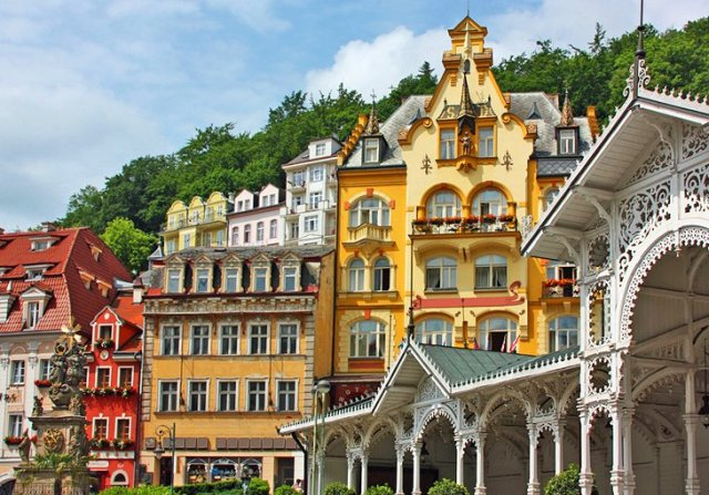 The Colonnades and Spas of Karlovy Vary