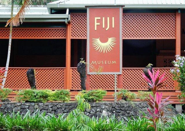 Ocean-going boat in Fiji Museum