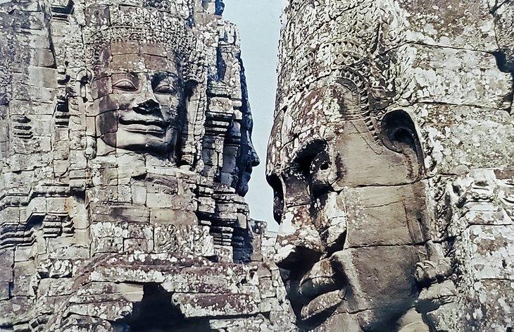 Stone faces at Angkor Wat
