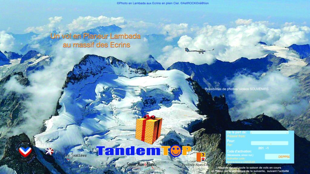Bon cadeau Vol aux Ecrins ASTROplaneur GapTallard.FR Planeur Lambada
