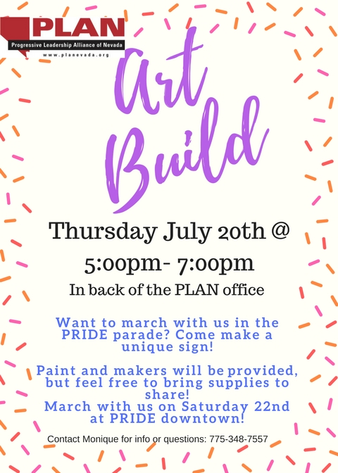Art Build – March with us in the PRIDE Parade!