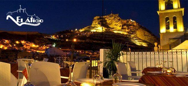 El Ático Restaurante, para cenas románticas en Alicante