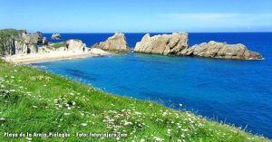 Playa de la Arnia, en Pielagos