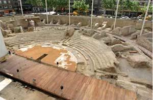 Restos romanos en Zaragoza