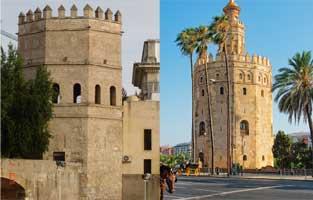 Torre del Oro y de Plata en Sevilla