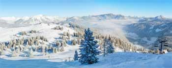 Plan romántico en la nieve