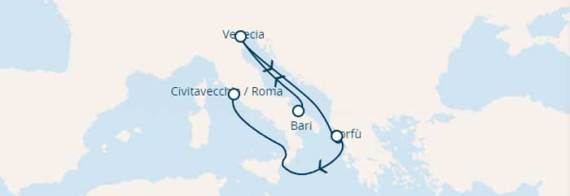 Minicruceros Italia y Grecia