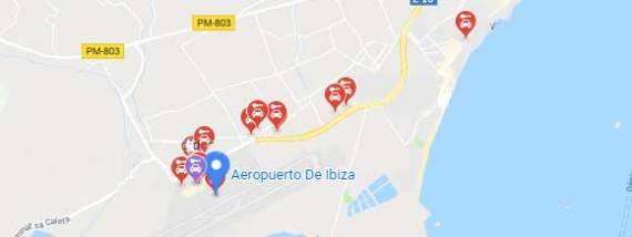 Oficinas de alquiler de coches aeropuerto Ibiza