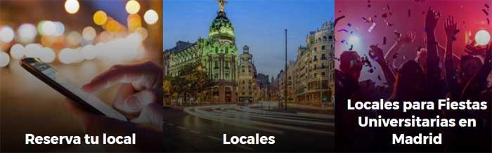 Reserva de locales fiestas Madrid