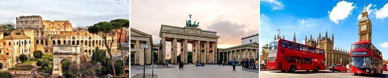 Berlín, Roma y Londres