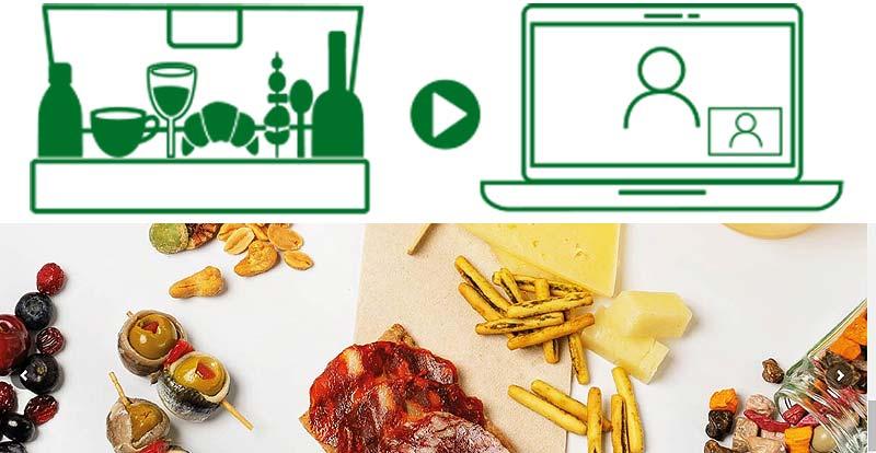 Comida a domicilio para eventos virtuales