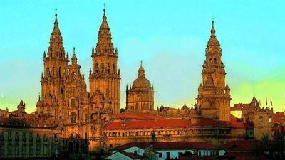 Catedral de Santiago en óleo