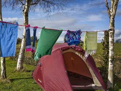 Colgador ropa para acampada