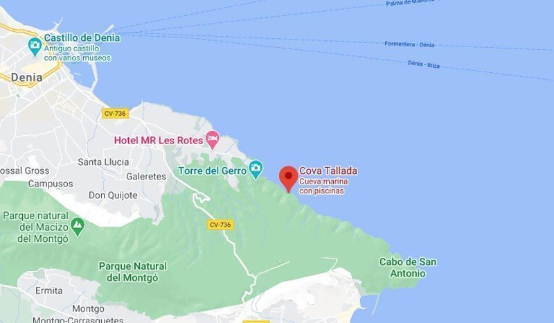 Mapa Cova Tallada