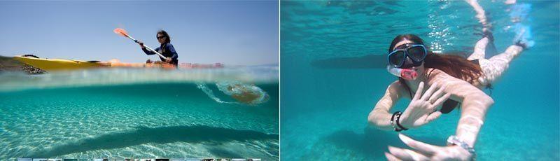 Kayak esnórquel Menorca